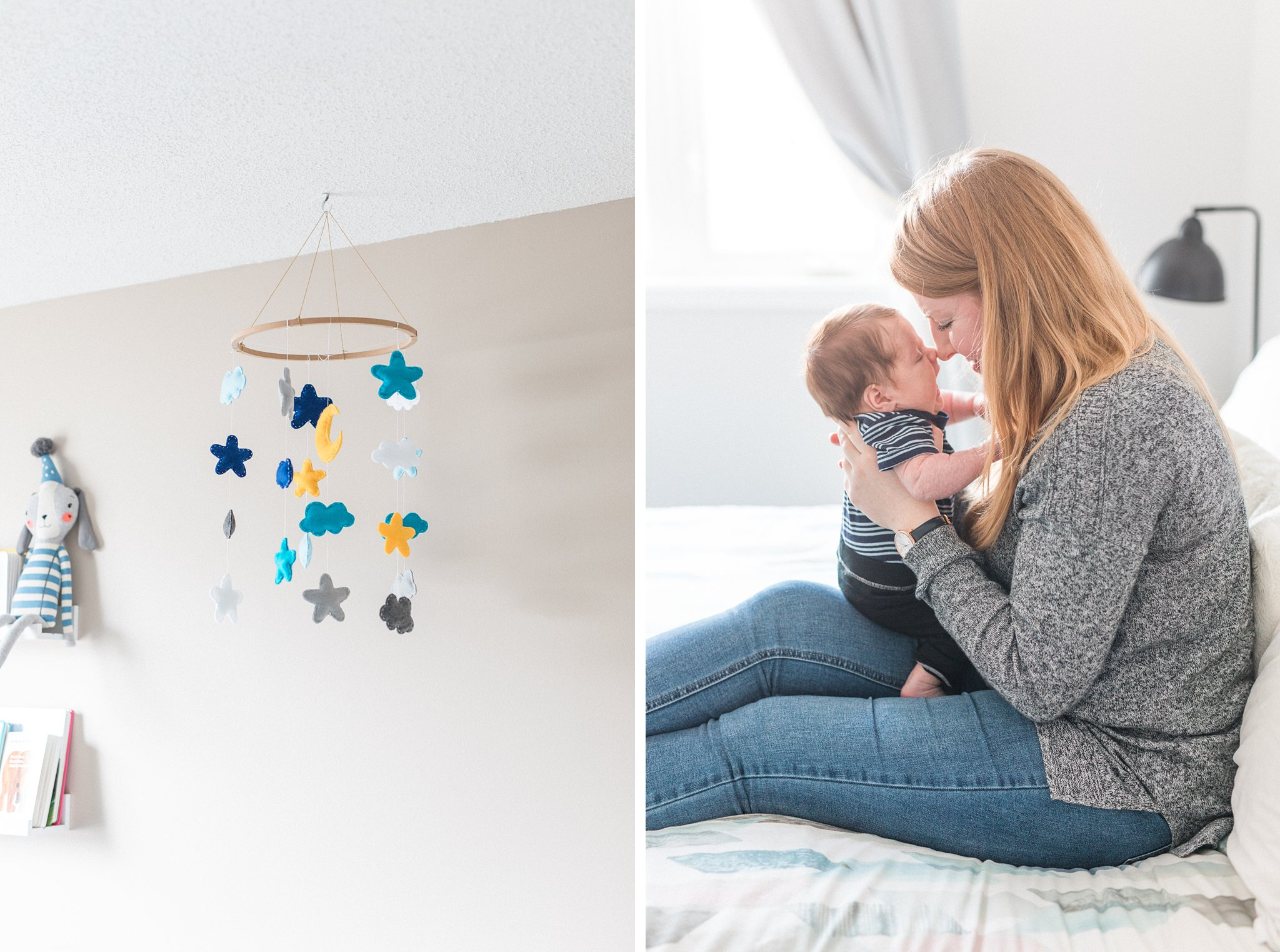 Lifestyle Newborn Session, Baby's First Christmas