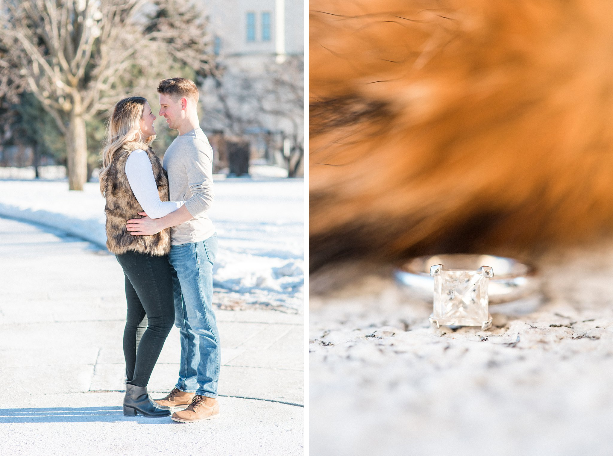 Downtown Ottawa Winter Engagement Photos at the Chateau Laurier