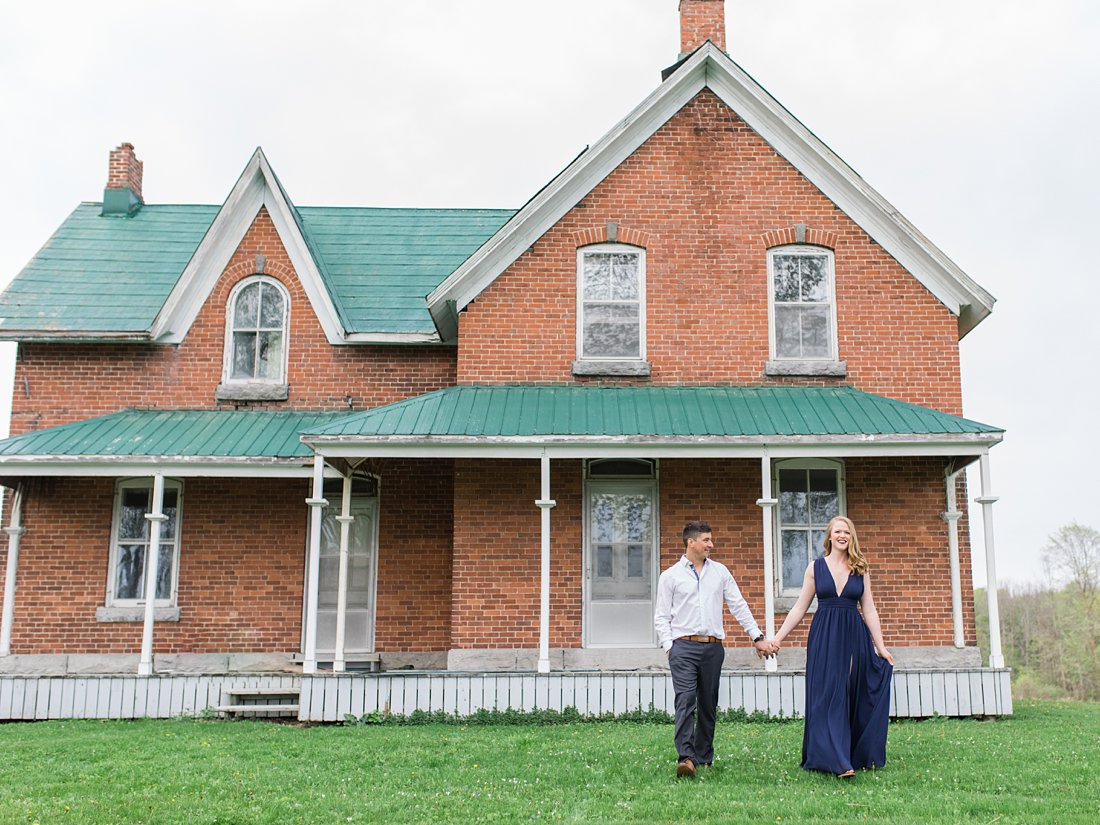100-year old Farmhouse Engagement Photos