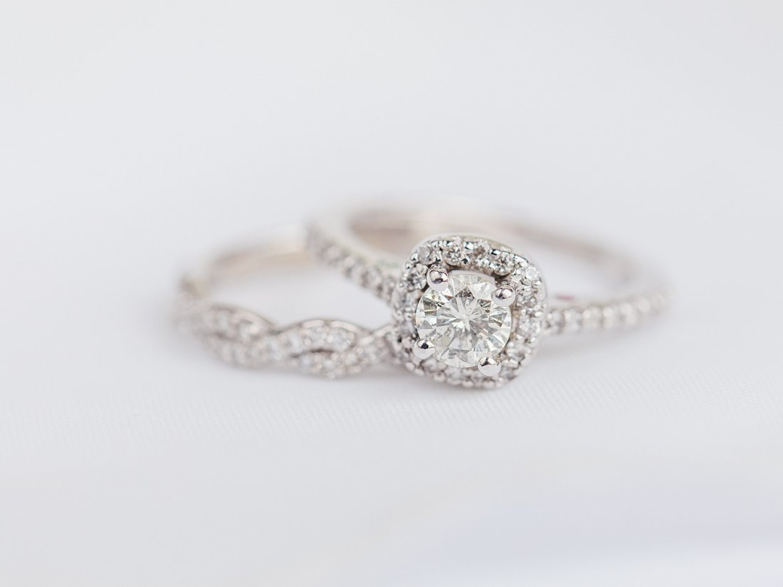 Strathmere Lodge Wedding square halo engagement ring