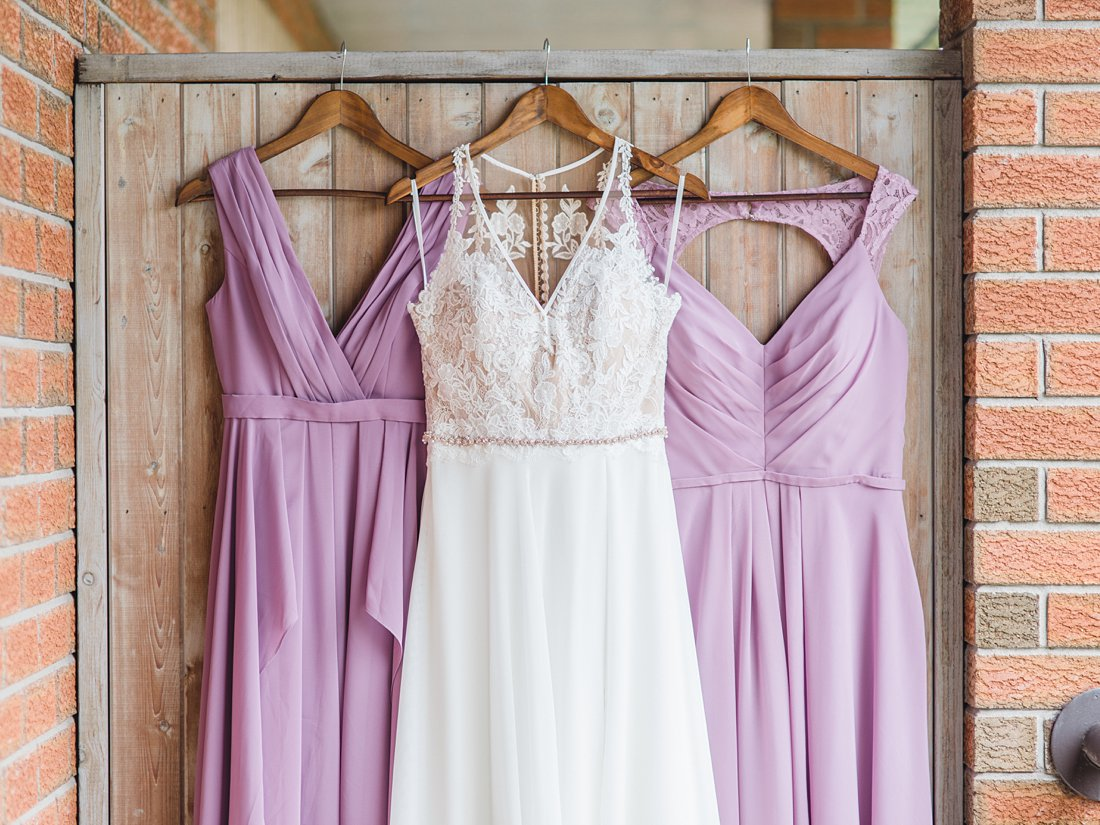 Strathmere Lodge Wedding lavender bridesmaid dresses