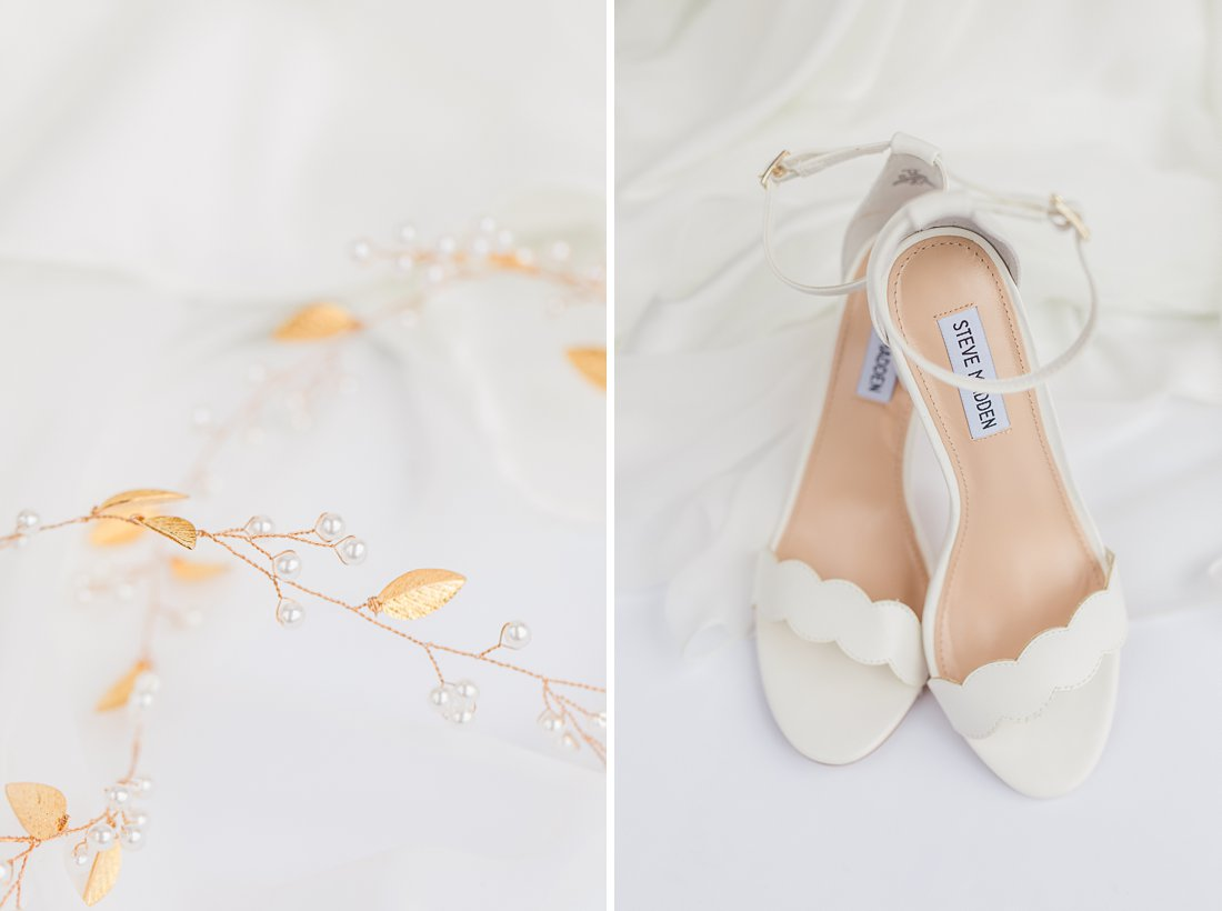 Strathmere Lodge Wedding white bridal heels