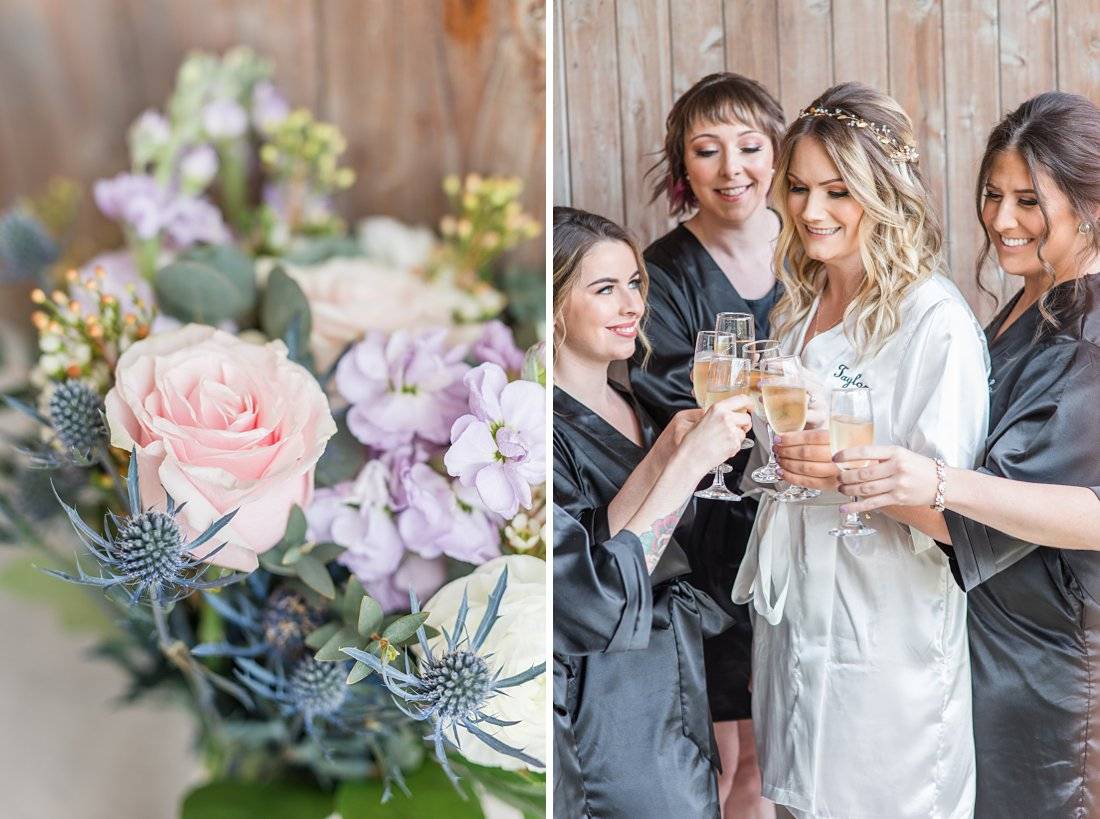 Strathmere Lodge Wedding lavender florals