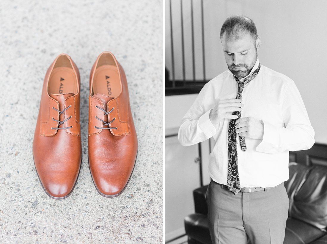 Strathmere Lodge Wedding Congnac shoes