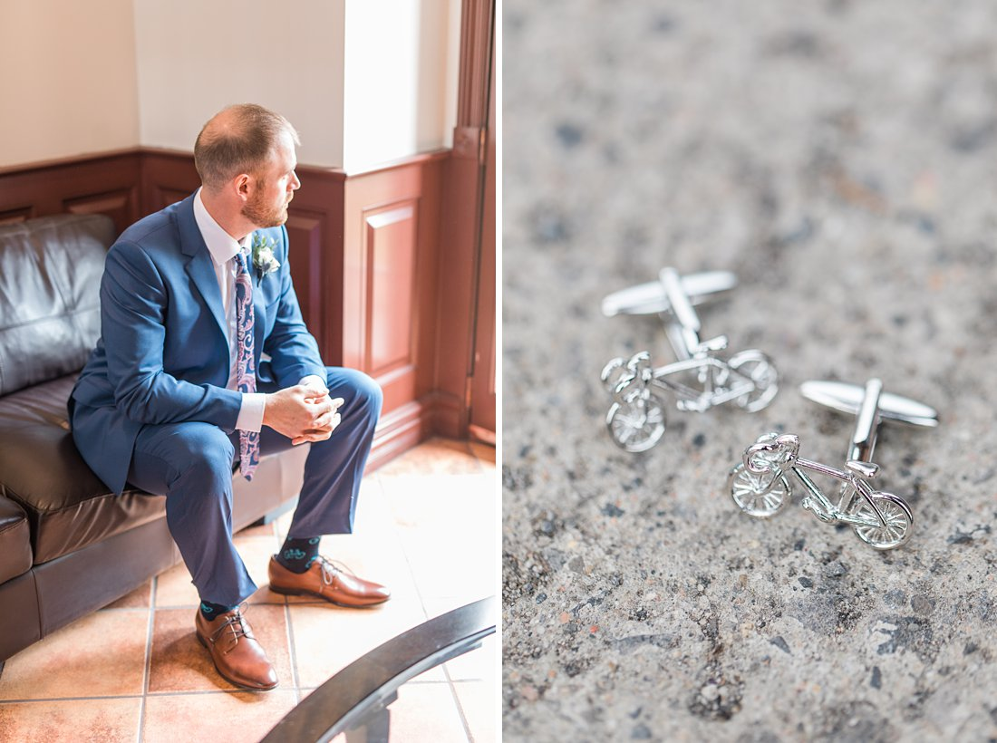 Strathmere Lodge Wedding bicycle cufflinks