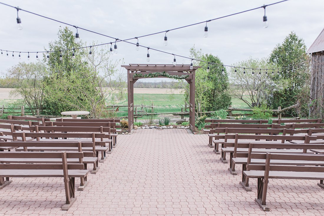 String light ceremony outdoor Strathmere Lodge Wedding