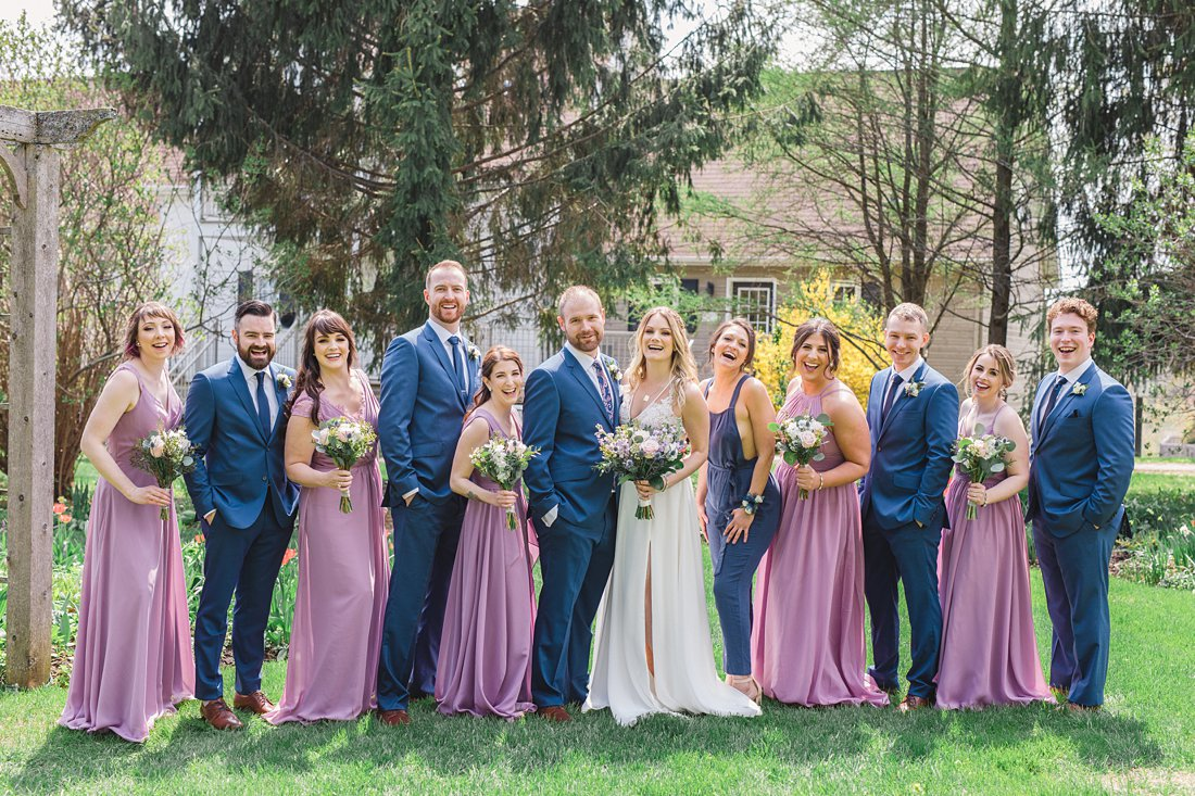 Bridal party Strathmere Lodge Wedding
