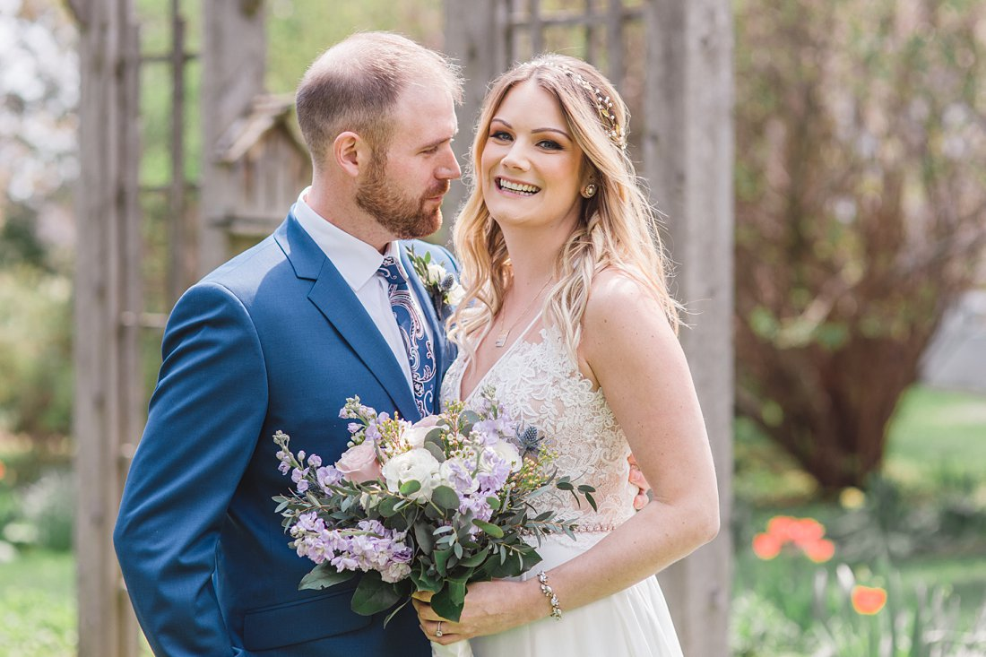 Purple florals Strathmere Lodge Wedding