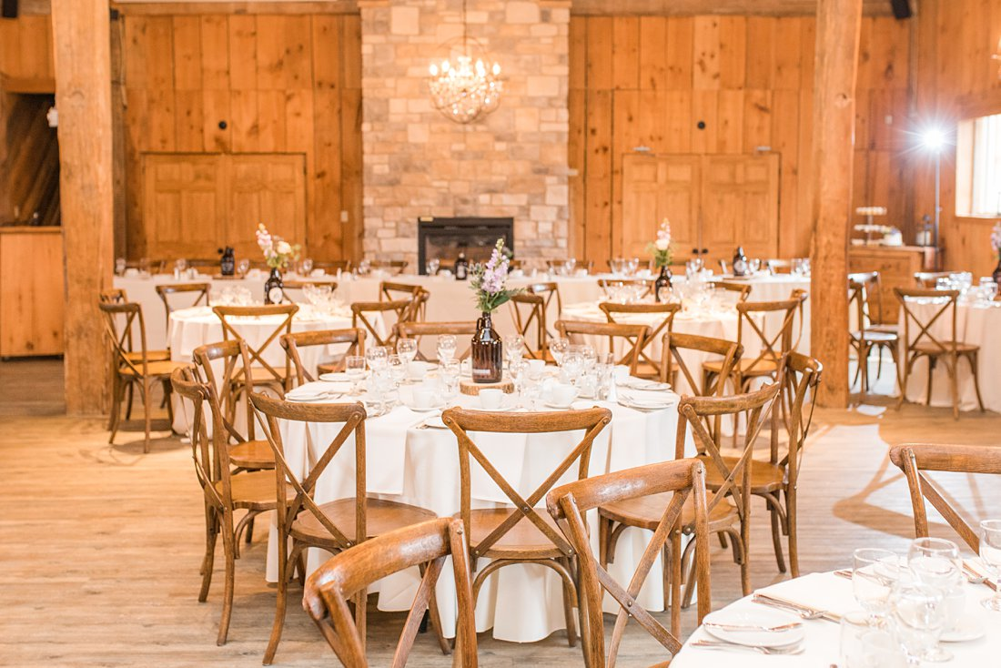 Reception seating vineyard chairs Strathmere Lodge Wedding