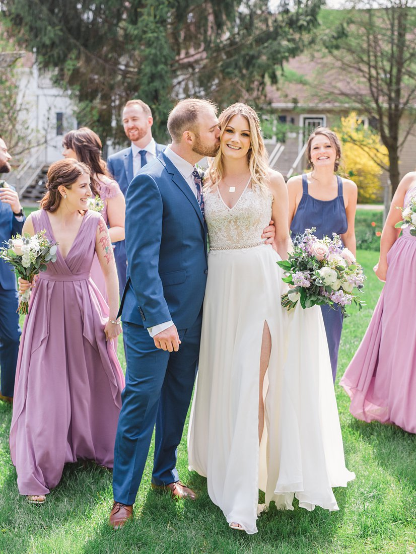 Lavender navy bridal party Strathmere Lodge Wedding