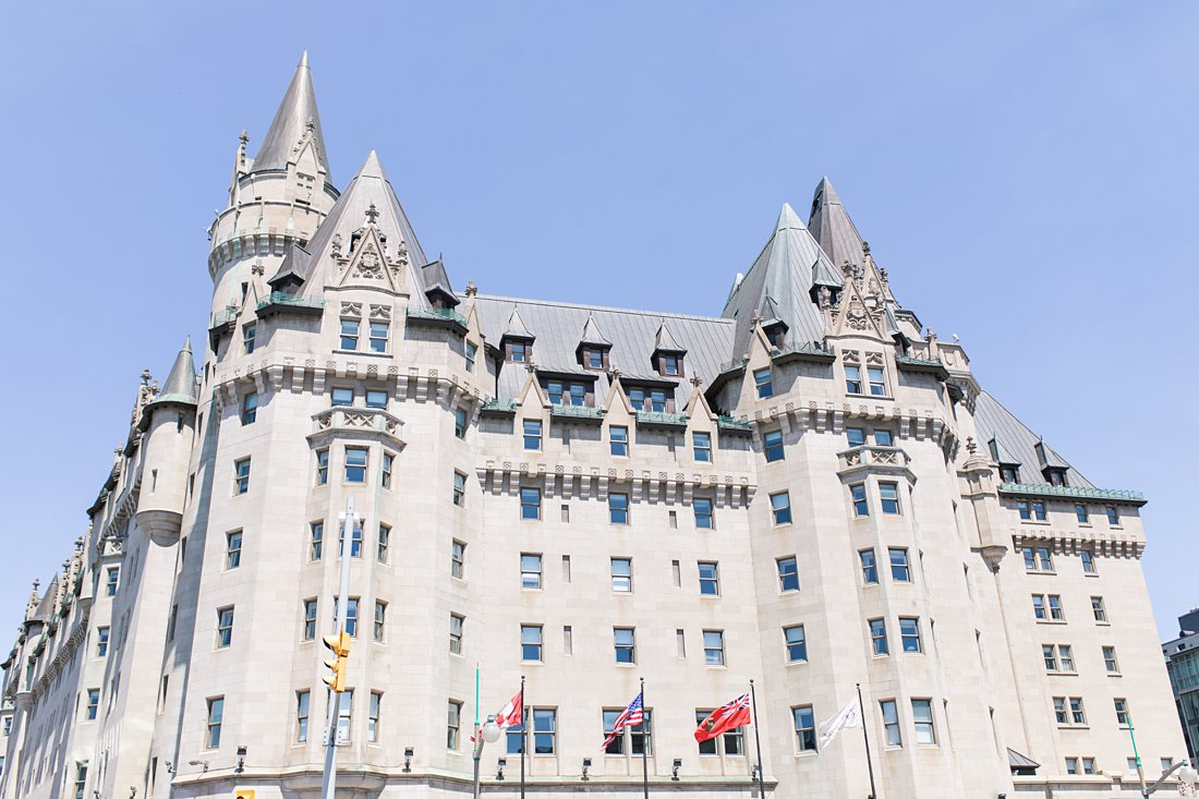 Chateau Laurier Wedding sunny day
