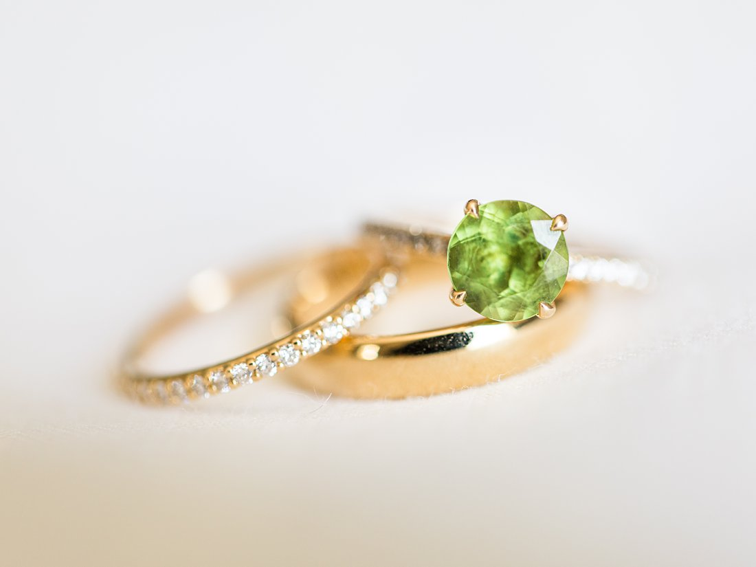 Green diamond ring, Chateau Laurier Wedding,