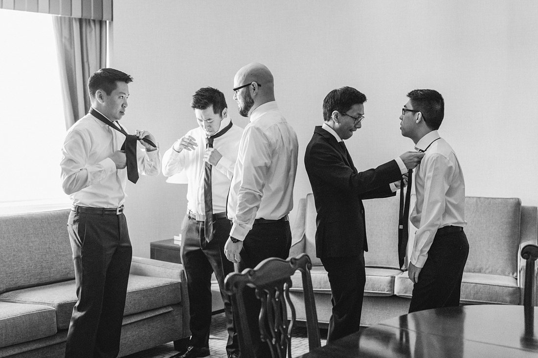 Groom prep in parlour room Chateau Laurier Wedding
