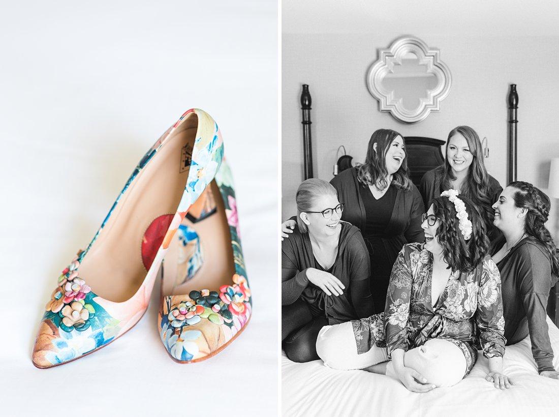 Chateau Laurier Wedding, Fluevog floral shoes