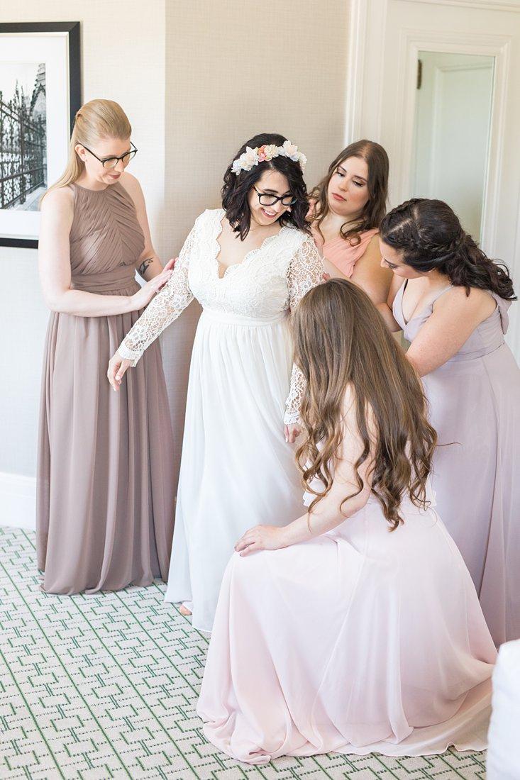 Bride prep Chateau Laurier Wedding,