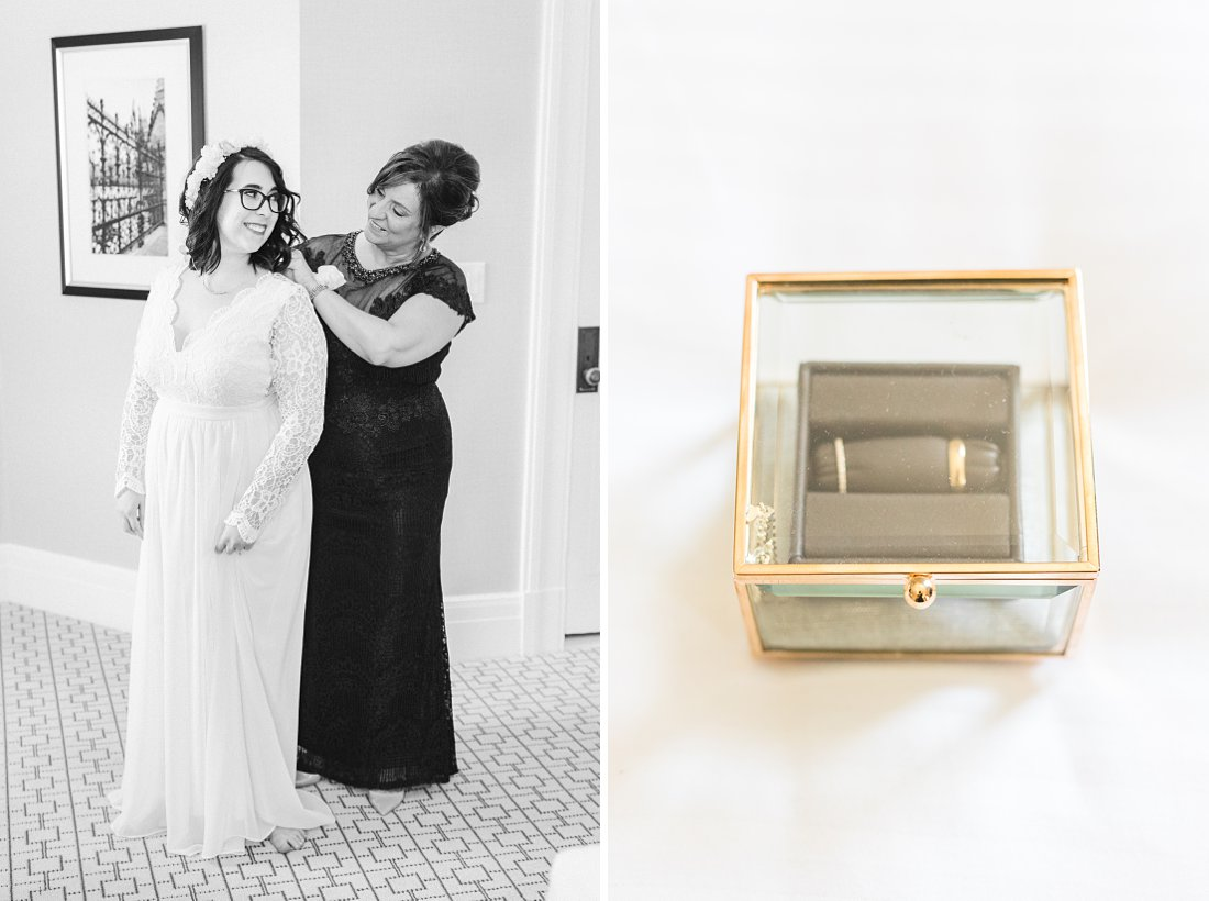 Square ring box, Chateau Laurier Wedding,