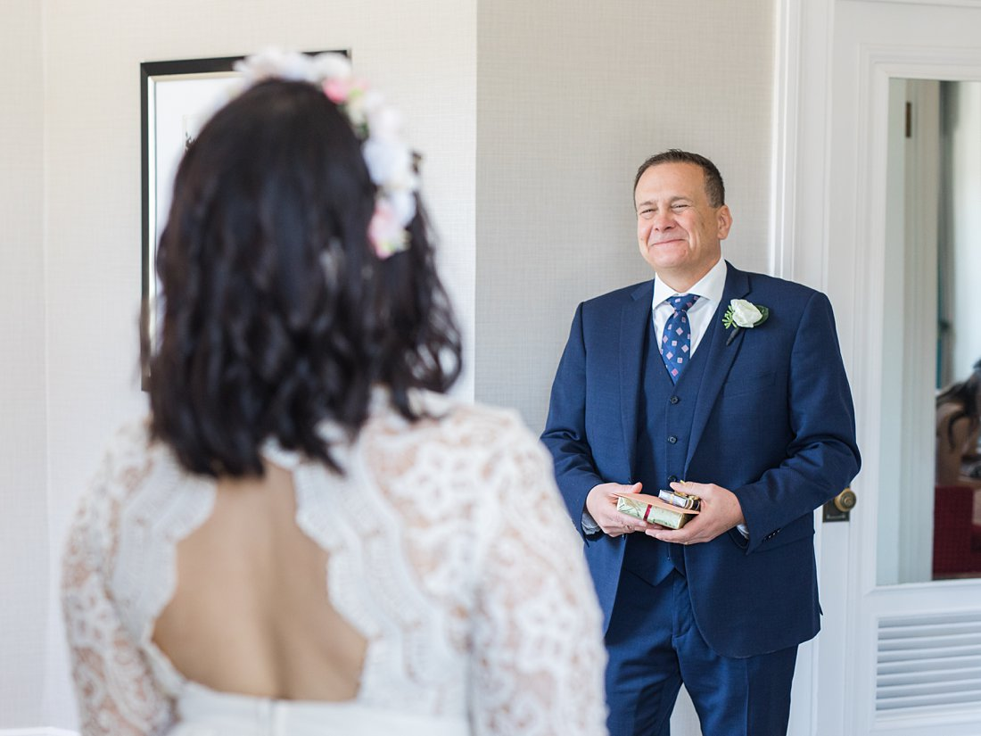 Daddy daughter first look Chateau Laurier Wedding