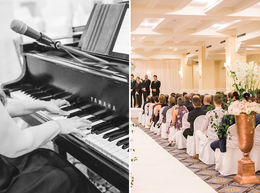 Kimberly Dunn live piano music Chateau Laurier Wedding