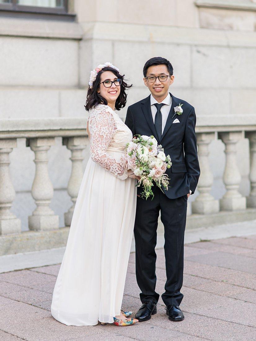 Boho wedding dress Chateau Laurier Wedding