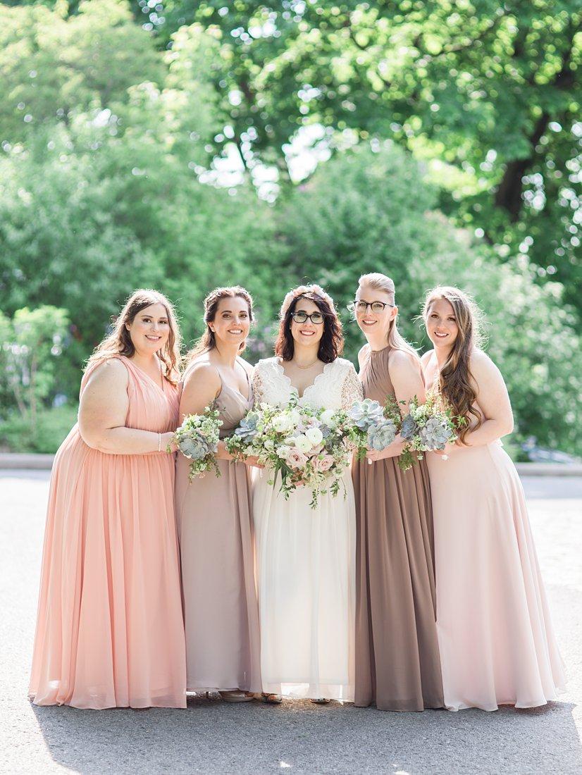 Major's Hill Park bridesmaids photo Chateau Laurier Wedding