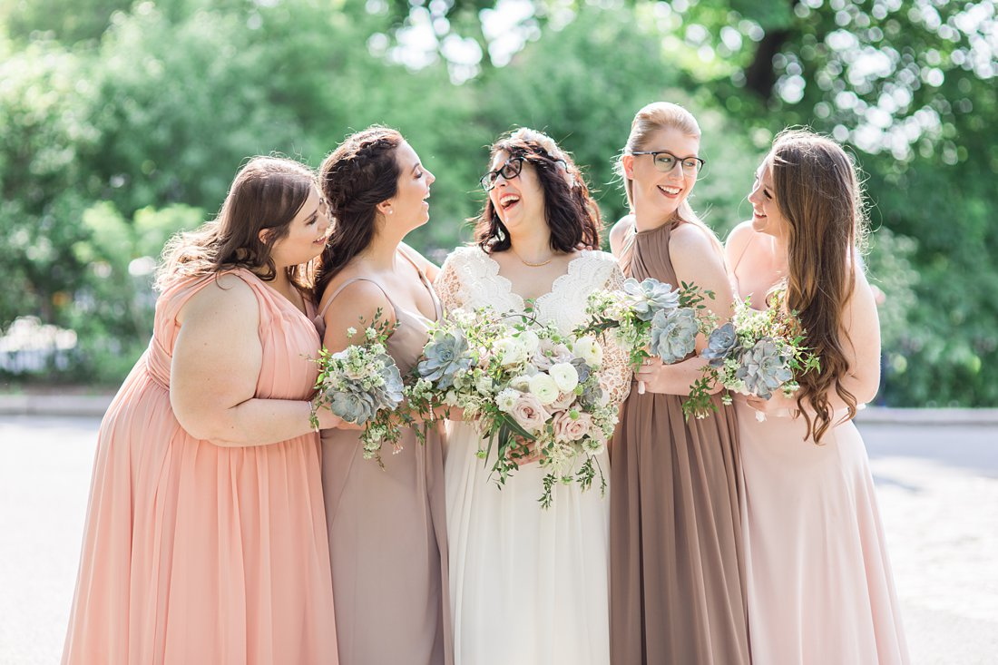 Bridal party photos Chateau Laurier Wedding