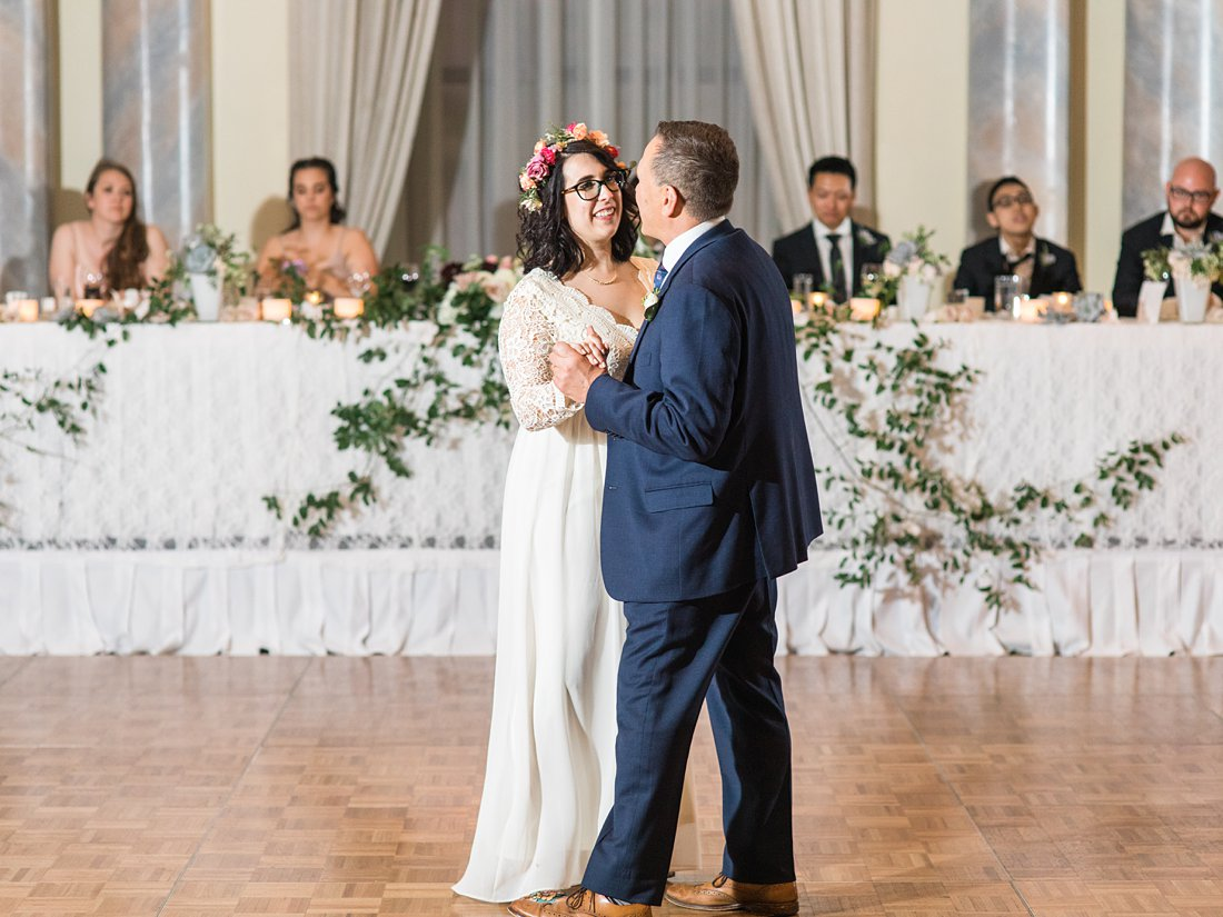 Boho bride father daughter dance Chateau Laurier Wedding