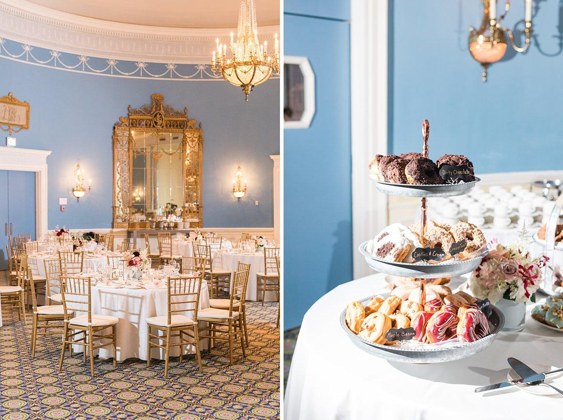 Suzy Q Doughnuts Chateau Laurier Wedding