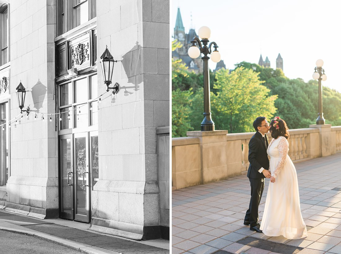 Sunset photos Chateau Laurier Wedding