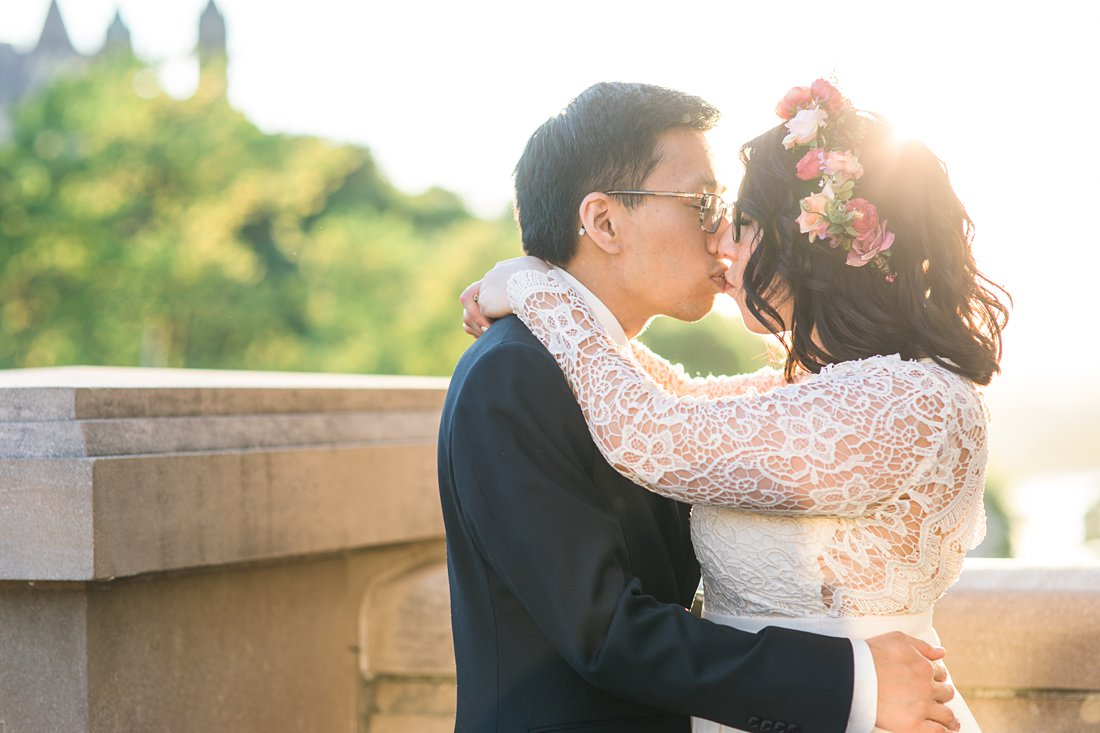 Sunset at Chateau Laurier Wedding