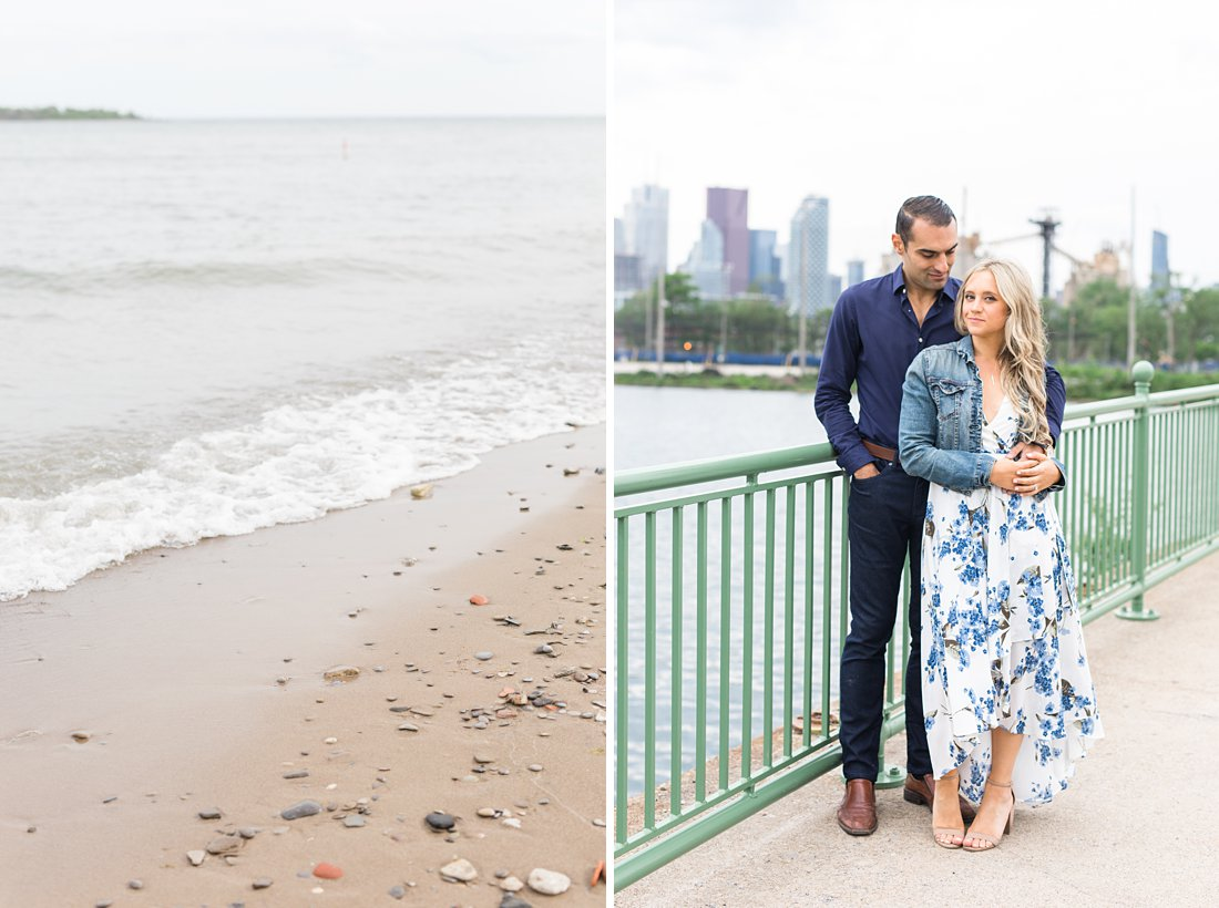 Skyline bridge, Polson Pier Toronto Engagement Photos, Amy Pinder Photography
