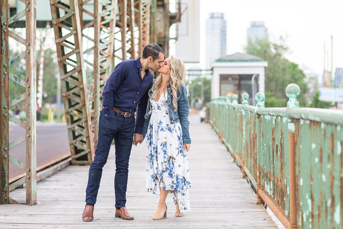 Toronto bridge, Polson Pier Toronto Engagement Photos, Amy Pinder Photography