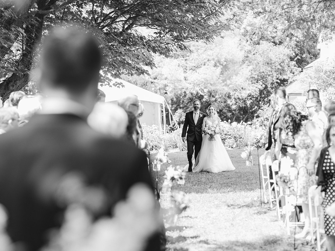 Walking down the aisle at Billings Estate Restaurant Twenty Two Wedding at the Westin Ottawa