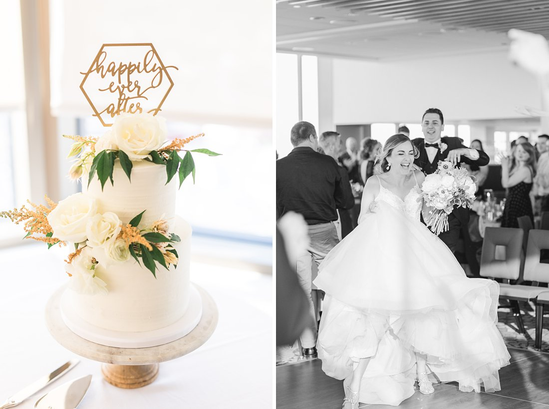 Geometric cake topper, Happily ever after, Restaurant Twenty Two Wedding at the Westin Ottawa