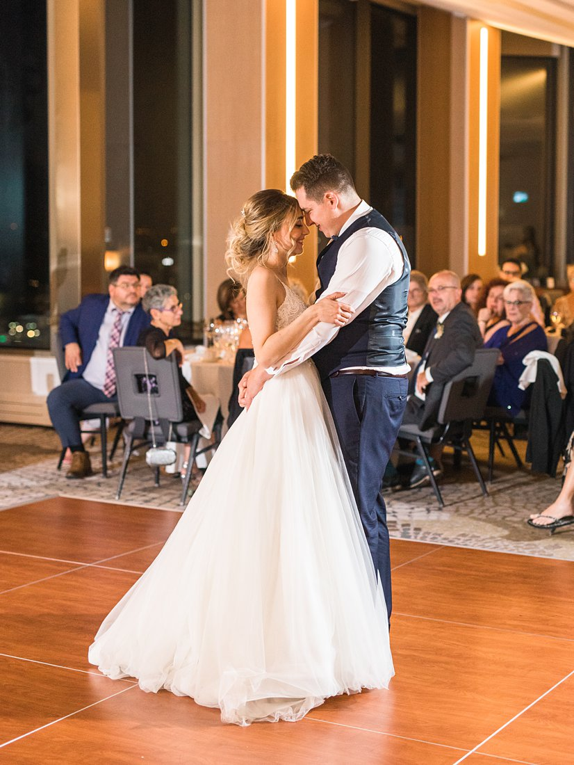 First dance Restaurant Twenty Two Wedding at the Westin Ottawa