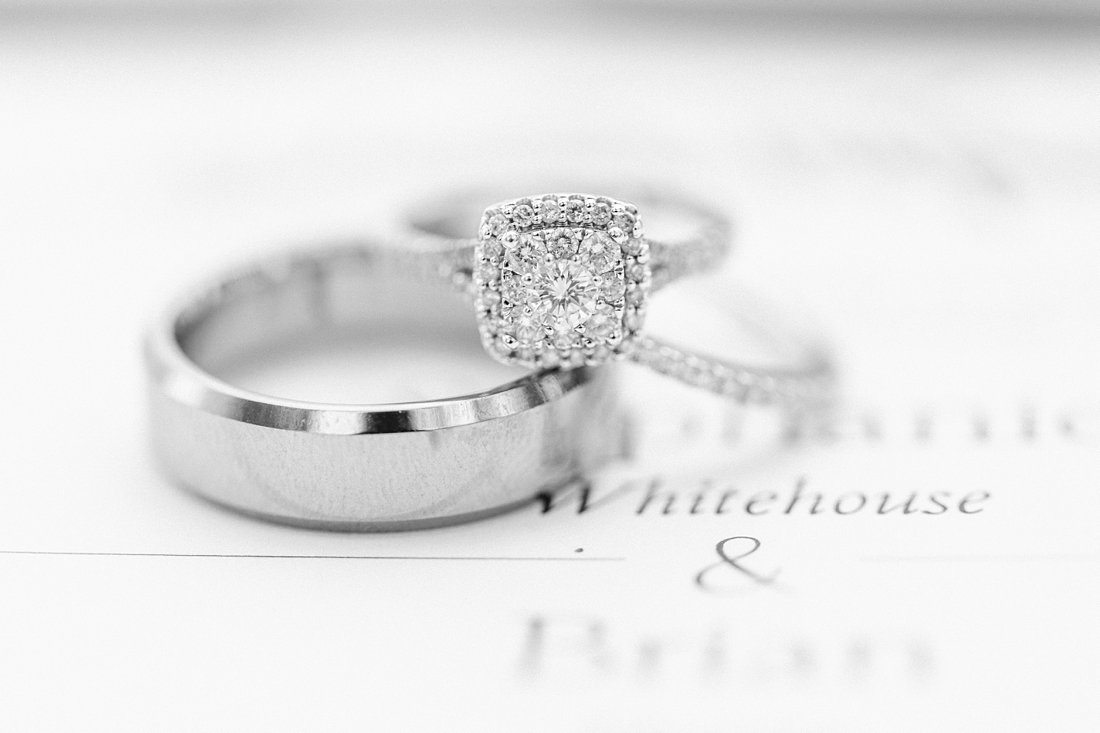 square cut diamond ring, diamond halo, A Sage Green Summer Wedding at Le Belvedere