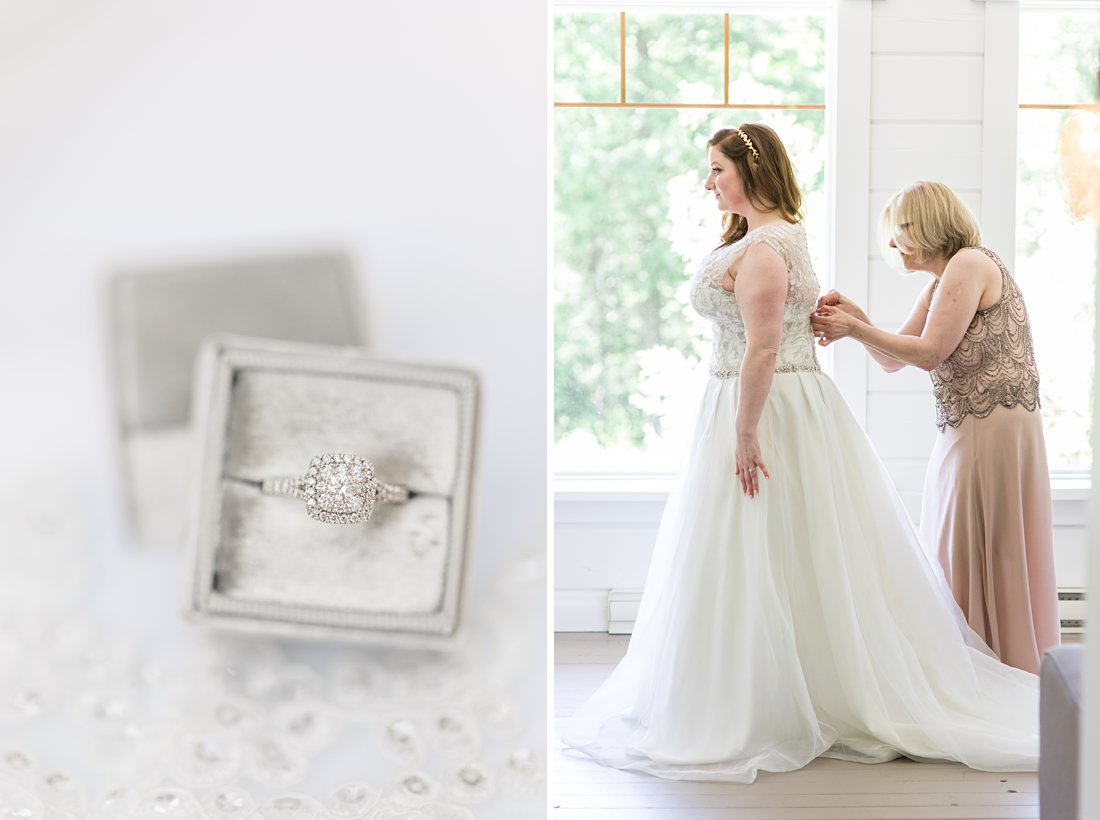 Silver mrs box, ring box, bride gets dressed, A Sage Green Summer Wedding at Le Belvedere