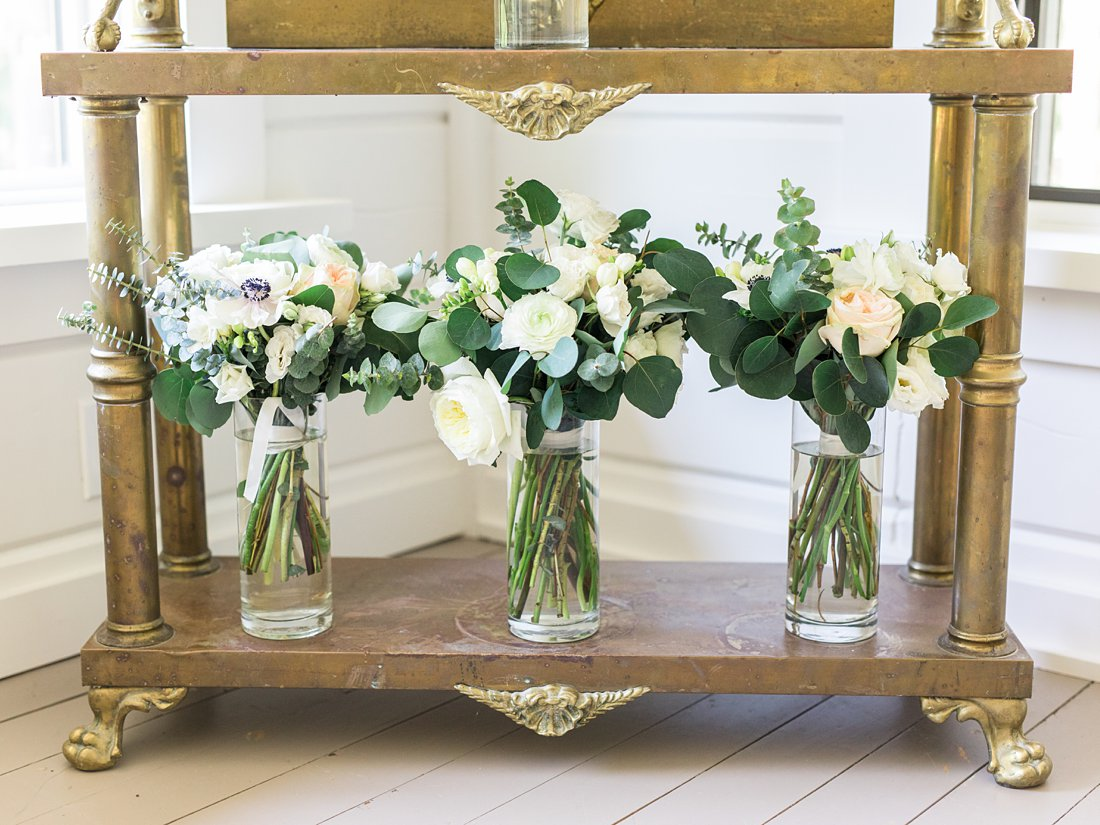 bridal bouquets, vintage mirror, A Sage Green Summer Wedding at Le Belvedere