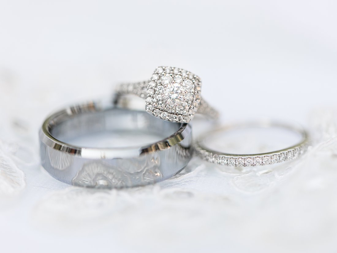 wedding bands, diamond ring, A Sage Green Summer Wedding at Le Belvedere
