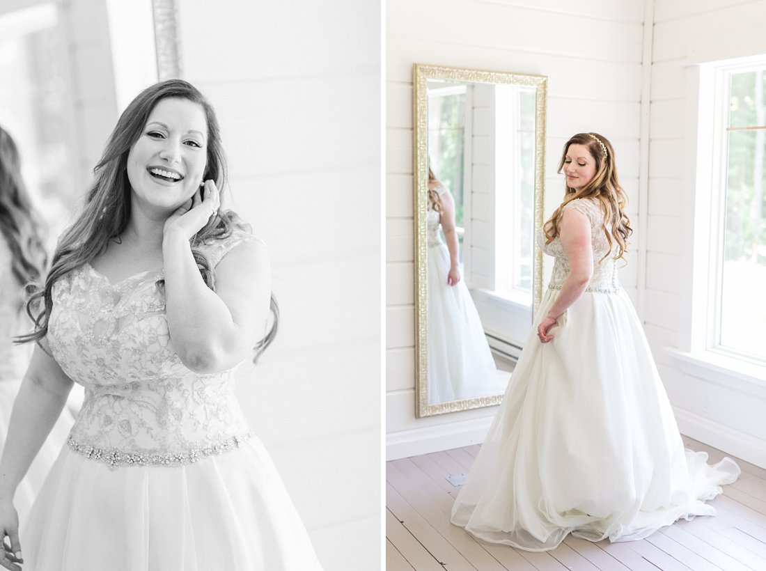 bride prep, laughing bride, A Sage Green Summer Wedding at Le Belvedere