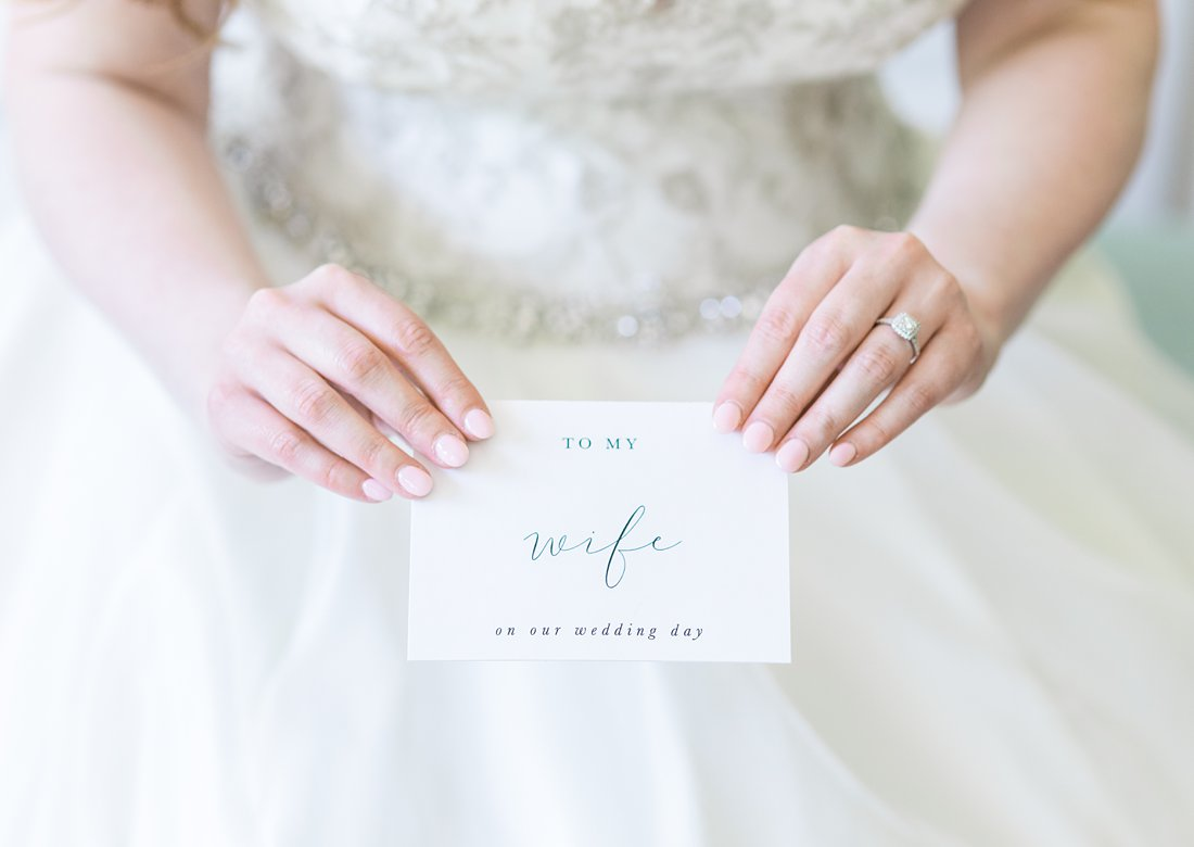 letter from groom, A Sage Green Summer Wedding at Le Belvedere