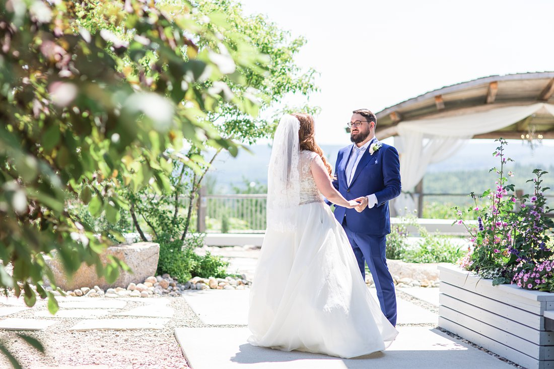first look, A Sage Green Summer Wedding at Le Belvedere