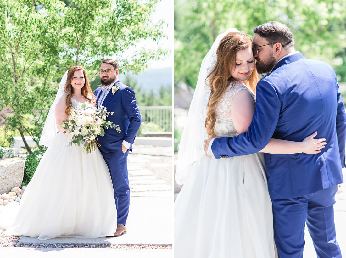 blue suit, wedding dress, A Sage Green Summer Wedding at Le Belvedere