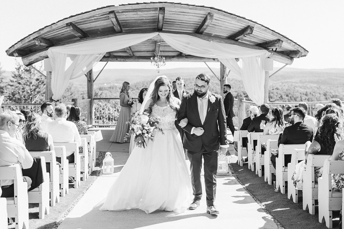 processional, black and white, walking, A Sage Green Summer Wedding at Le Belvedere