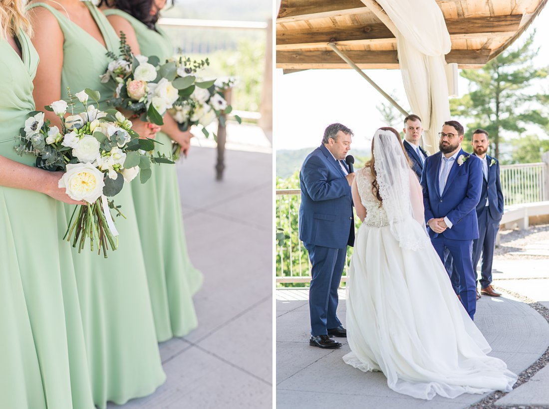 groom looks at bride, A Sage Green Summer Wedding at Le Belvedere