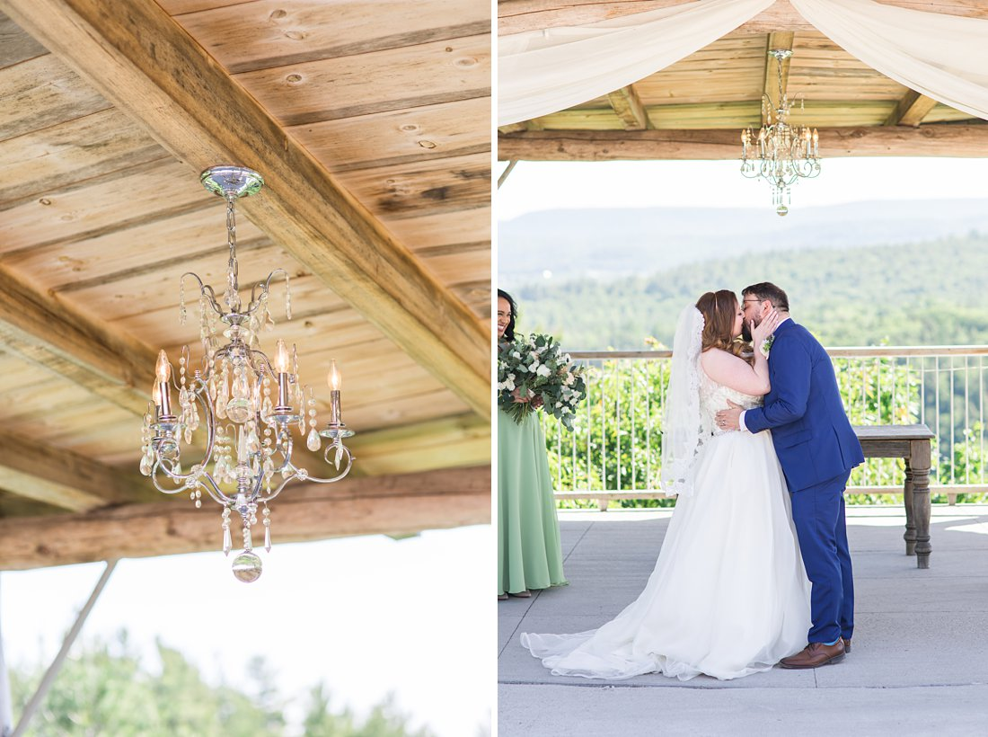 outdoor chandelier, wedding ceremony, A Sage Green Summer Wedding at Le Belvedere