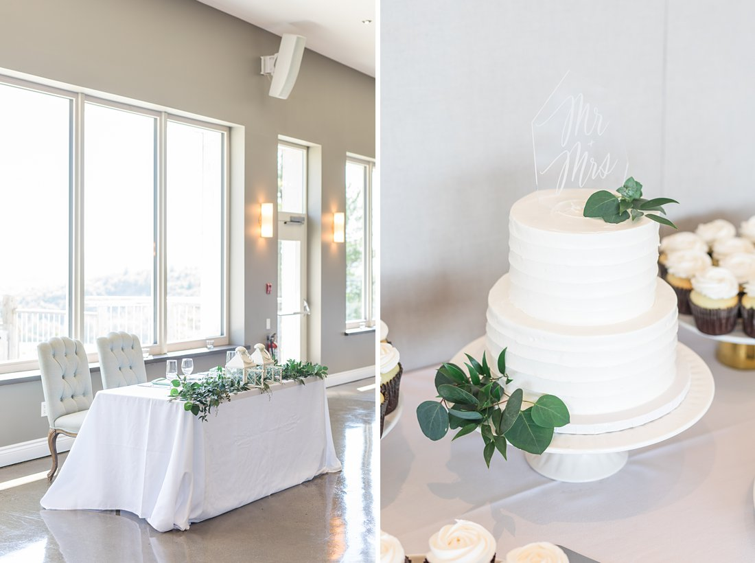 reception decor, sweetheart table, wedding cake, A Sage Green Summer Wedding at Le Belvedere