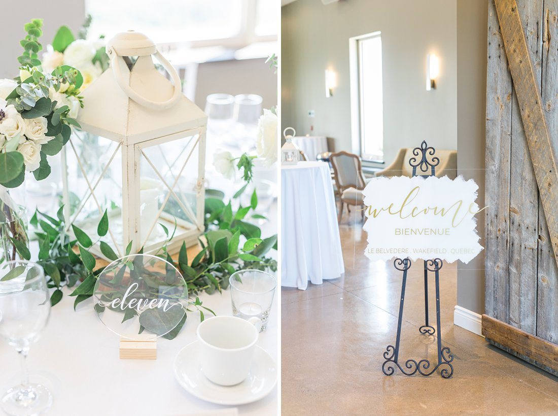 table decor, clear table number, calligraphy, lantern, greenery, A Sage Green Summer Wedding at Le Belvedere