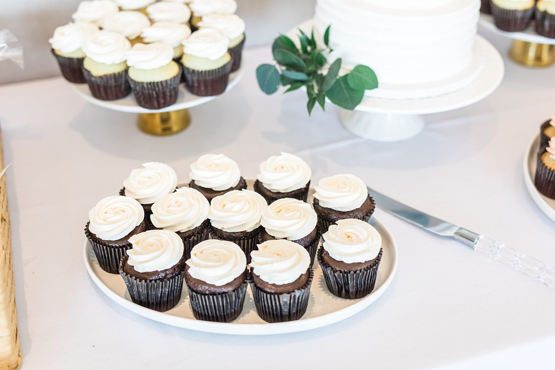 cupcakes, thimble cakes, A Sage Green Summer Wedding at Le Belvedere