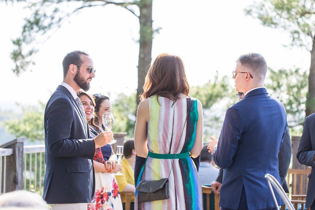 sunny cocktail hour, A Sage Green Summer Wedding at Le Belvedere