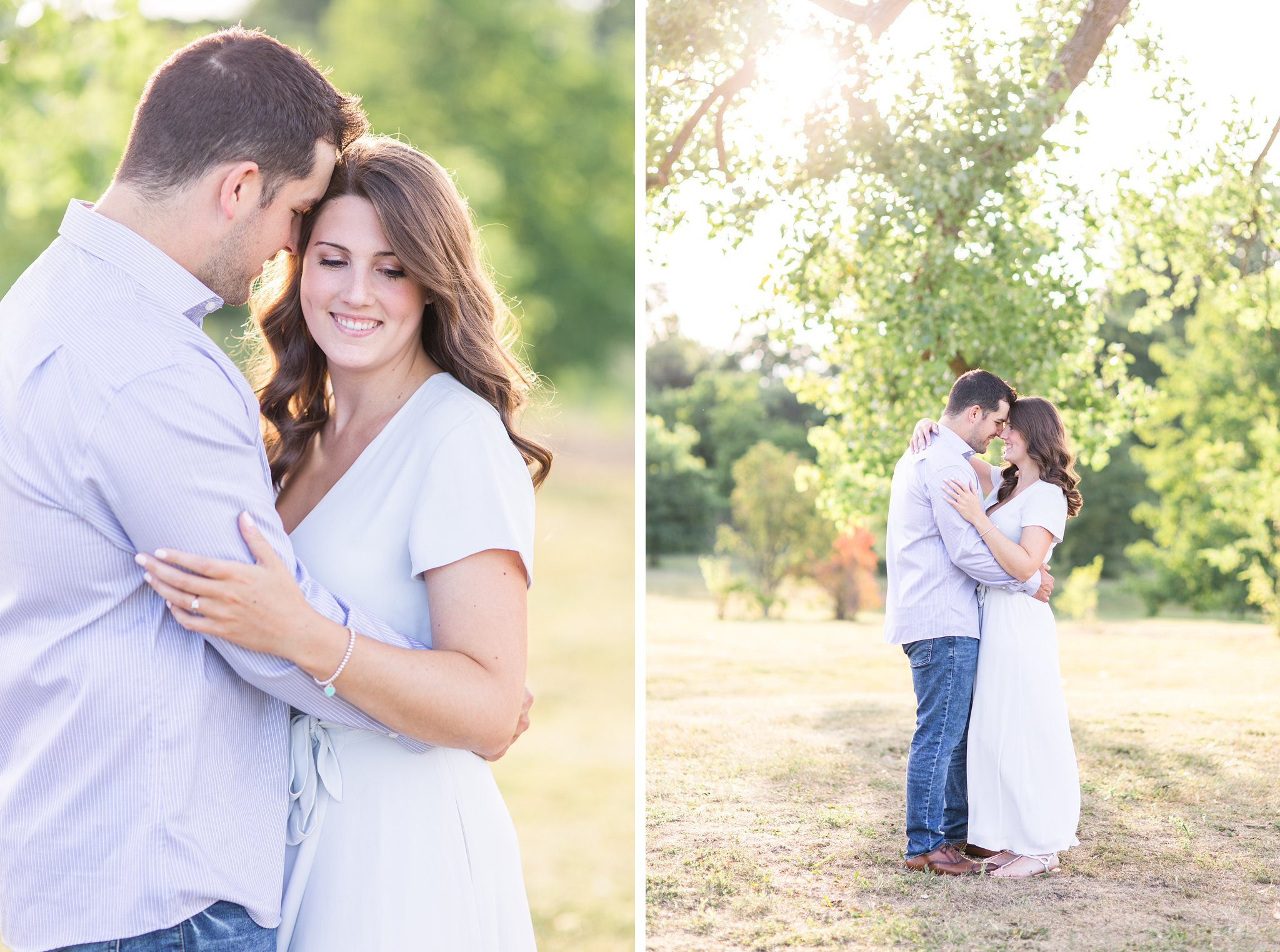 Trees, grassy, engagement session, Fletcher's Wildlife Garden Engagement photos